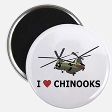 I Love Chinooks Magnet