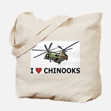 I Love Chinooks Tote Bag