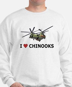 I Love Chinooks Sweatshirt