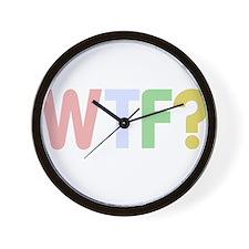 Unique Wtf Wall Clock