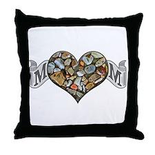 Mom Rocks Throw Pillow