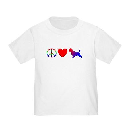 Peace Love Cairn Terrier Toddler TShirt