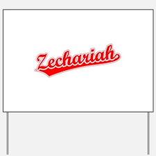 Retro Zechariah (Red) Yard Sign