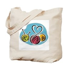 Yarn Heart Tote Bag