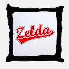 Retro Zelda (Red) Throw Pillow