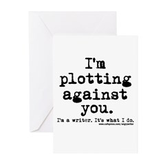 Plotting Against You Greeting Cards (Pk of 20)