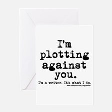 Plotting Against You Greeting Card