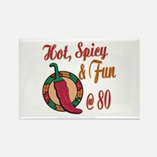 Hot N Spicy 80th Rectangle Magnet