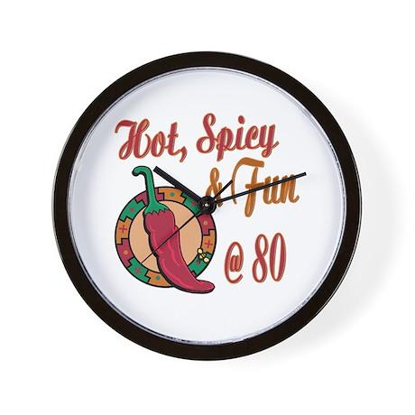 Hot N Spicy 80th Wall Clock