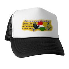 Masonic Iraqi Freedom Trucker Hat