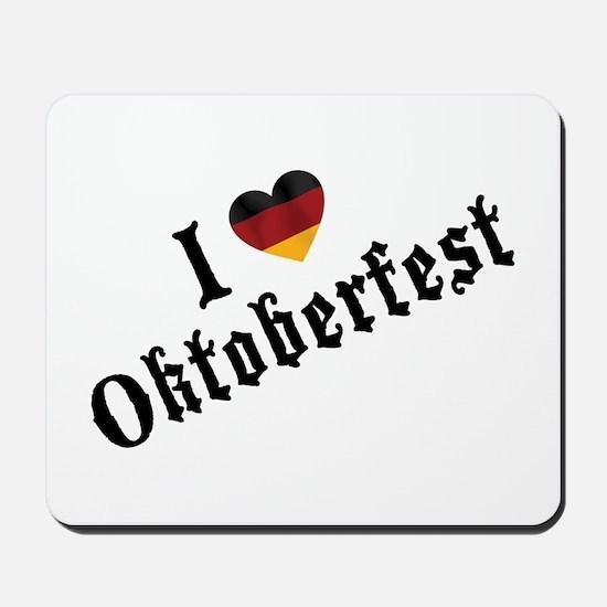 I Love Oktoberfest Mousepad