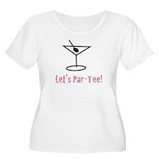 Let's Par-Tee! (Pink) Women's+ Size Scoop Neck Tee