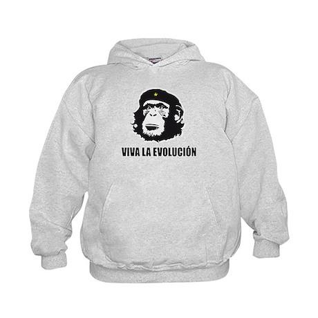 Viva La Evolucion Darwin Kids Hoodie