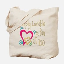 Lovable 100th Tote Bag