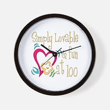 Lovable 100th Wall Clock