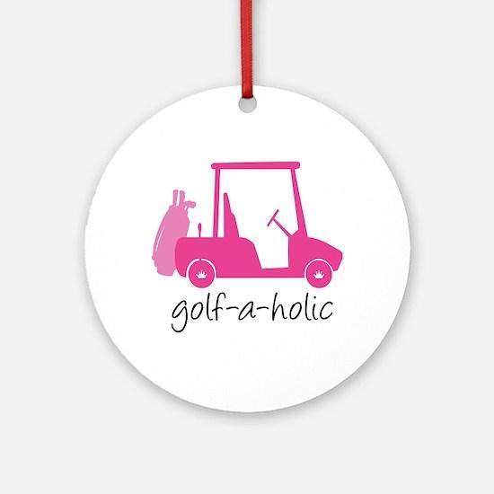 Golf-A-Holic - Ornament (Round)