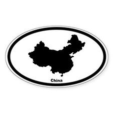 China Outline Oval Decal