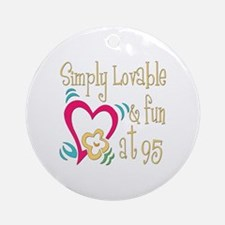 Lovable 95th Ornament (Round)