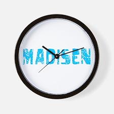 Madisen Faded (Blue) Wall Clock