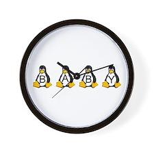 Tux - Linux Penguin Wall Clock