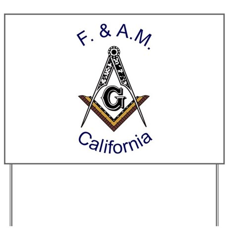 California Square and Compass Yard Sign