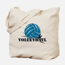 Volleyball starbust blue Tote Bag
