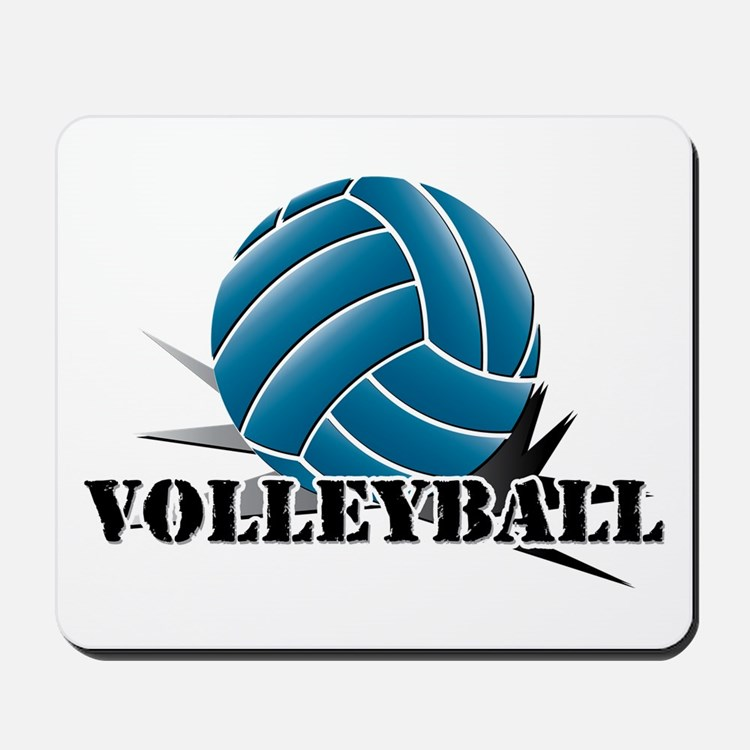 Volleyball starbust blue Mousepad
