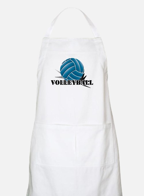 Volleyball starbust blue Apron