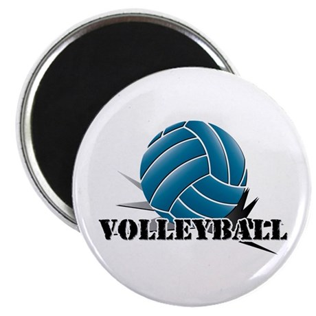 Volleyball starbust blue Magnet