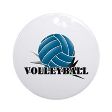 Volleyball starbust blue Ornament (Round)