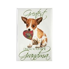 Chihuahua Grandma Rectangle Magnet
