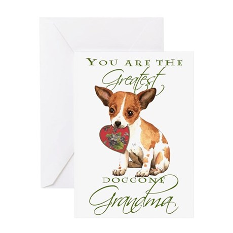 Chihuahua I Love Grandma Greeting Card