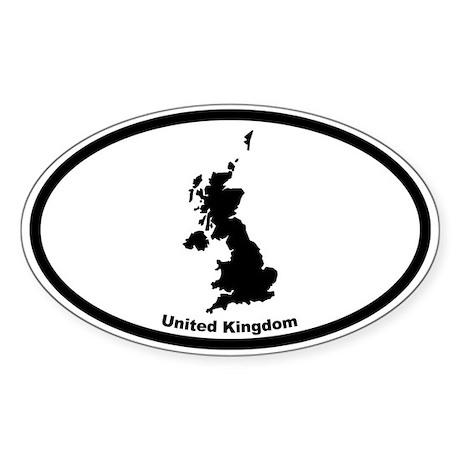 United Kingdom Outline Oval Sticker