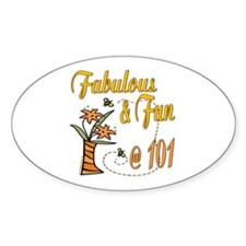 Floral 101st Oval Decal