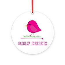 Golf Chick - Ornament (Round)