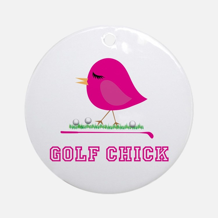Golf Chick - Ornament (Round)
