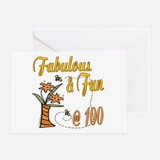 Floral 100th Greeting Card