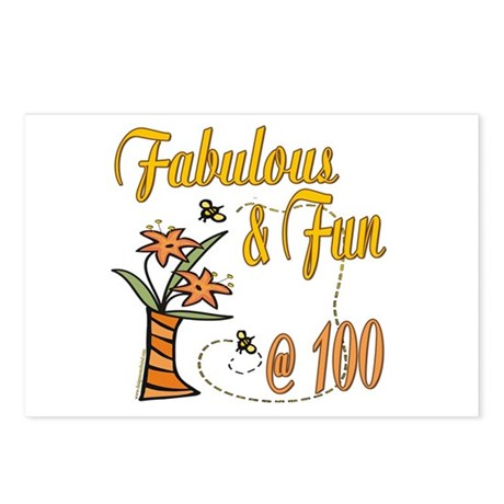Floral 100th Postcards (Package of 8)