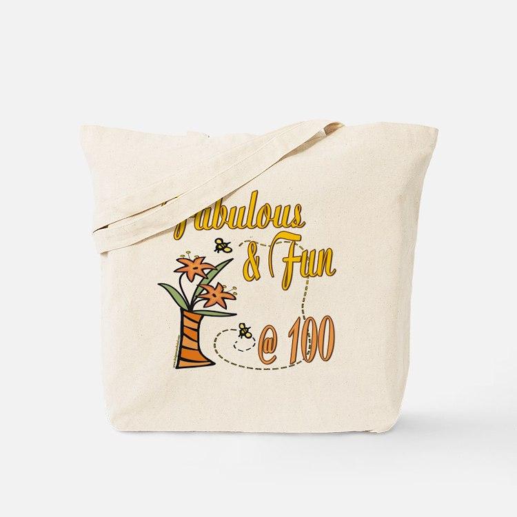 Floral 100th Tote Bag