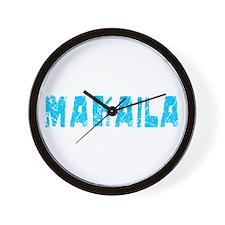 Makaila Faded (Blue) Wall Clock