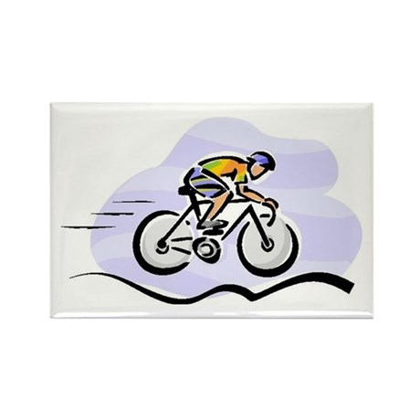Cycling Rectangle Magnet (10 pack)