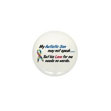 Needs No Words 1 (Son) Mini Button (10 pack)
