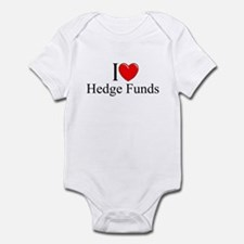 """I Love (Heart) Hedge Funds"" Infant Bodysuit"