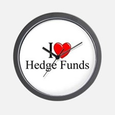 """I Love (Heart) Hedge Funds"" Wall Clock"