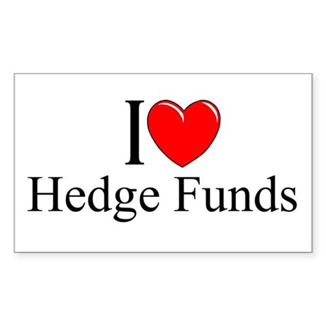 """I Love (Heart) Hedge Funds"" Rectangle Sticker"