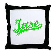 Retro Jase (Green) Throw Pillow