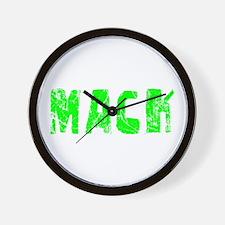 Mack Faded (Green) Wall Clock