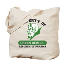 Unique Green Devils Tote Bag