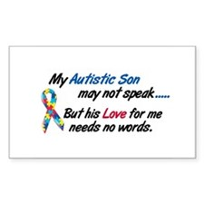 Needs No Words 1 (Son) Rectangle Sticker 10 pk)