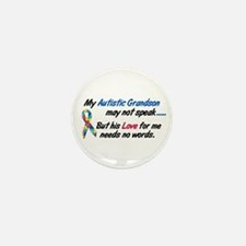 Needs No Words 1 (Grandson) Mini Button (100 pack)